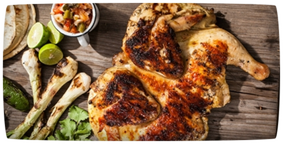 GRILLED CHICKEN MARINATED WITH LEMON AND CILANTRO